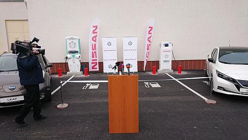 V2G charger; tritium fast charger; Nissan Leaf