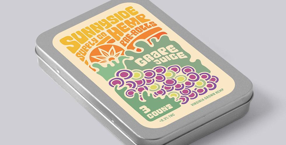 Sunnyside CBD Hemp Pre-Rolls - Grape Juice Strain~1.6 Grams