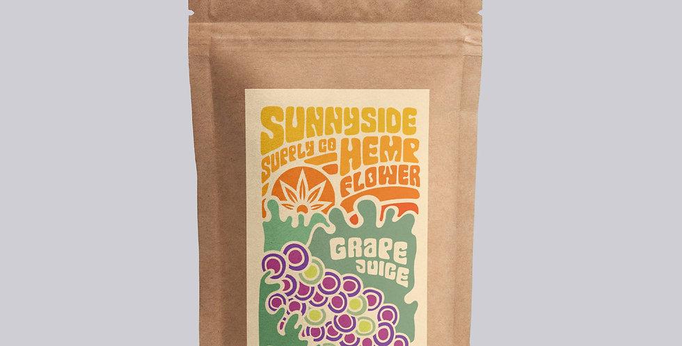 Sunnyside CBD Hemp Flower - Grape Strain - 3.5 Grams