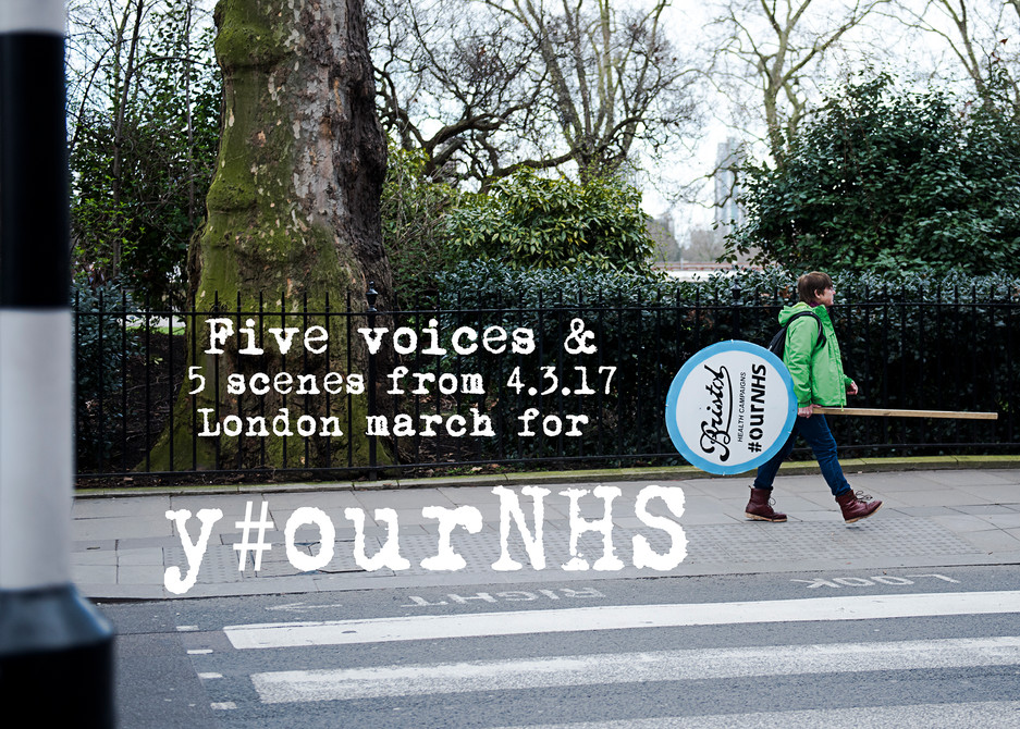 Y#ourNHS march: 5 voices and 5 scenes