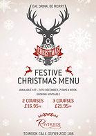 Riverside Festive Restaurant Menu A4 Pos
