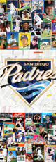 """Logo made entirely with original San Diego Padres baseball cards   32""""x32"""""""