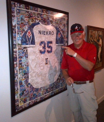 Phil Neikro at the Baseball Hall of Fame in Cooperstown