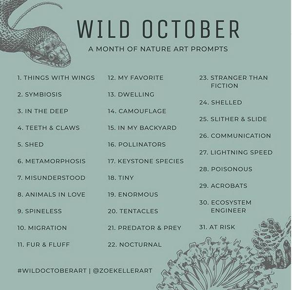 Wild October Prompt List