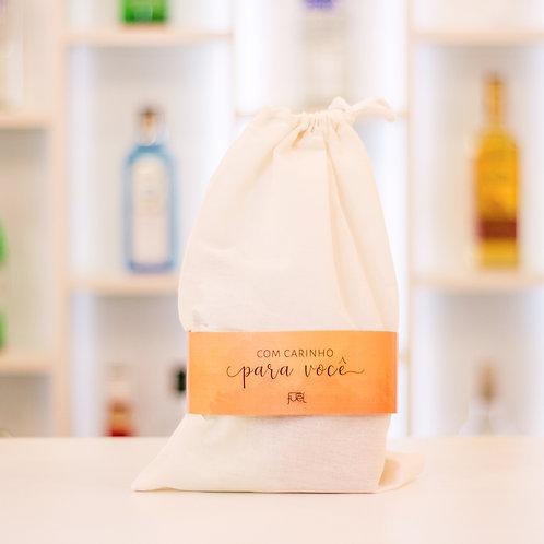 Bag Presente de algodão cru com cordão (tam aprox: 22x32cm)