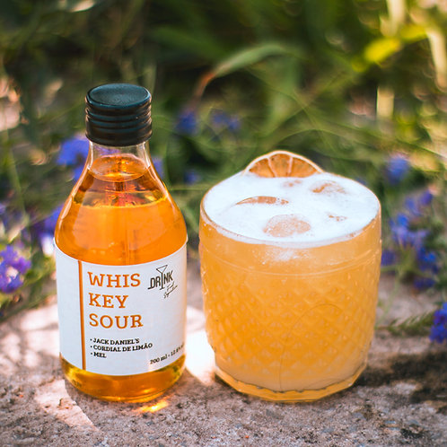 KIT Whiskey Sour 200ml - Drink Fuel Signature + Copo Baixo Old Fashioned