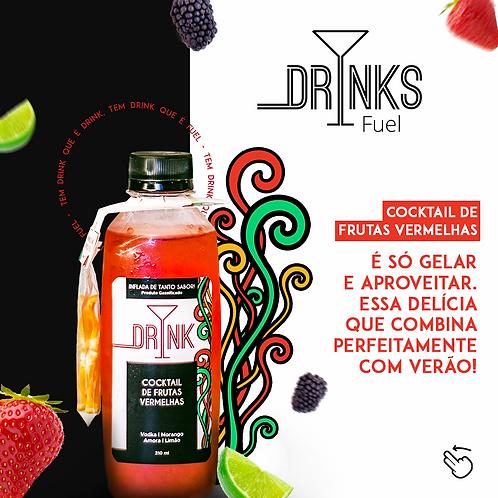 Drink Cocktail de Frutas Vermelhas 310ml - Rende 2 drinks