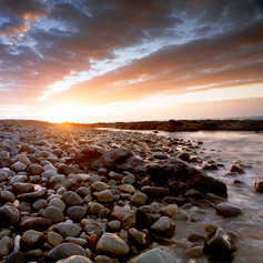 Rocky Sunset Nature Photo