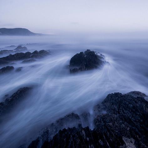 Misty Rocks Nature Photo