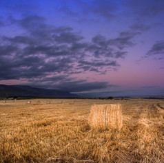 Hay fields landscape photograph