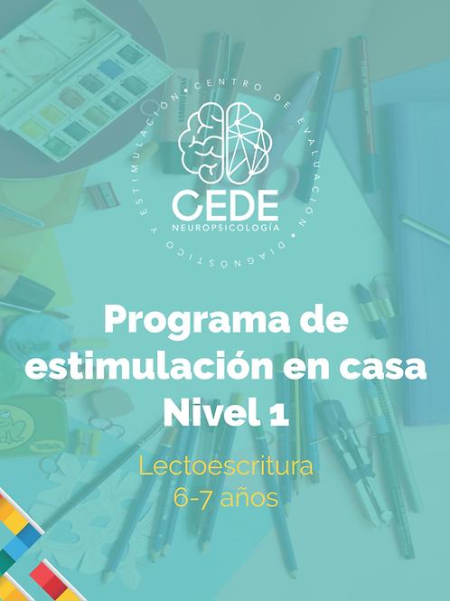 Programa de estimulación - Lectoescritura Nivel 1