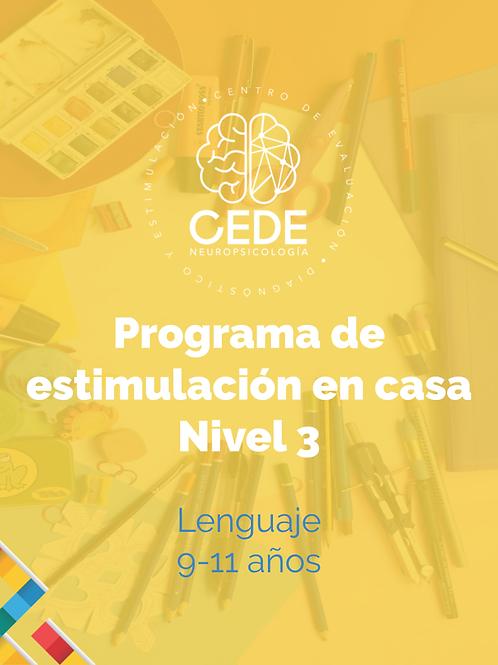 Programa de estimulación - Lenguaje Nivel 3