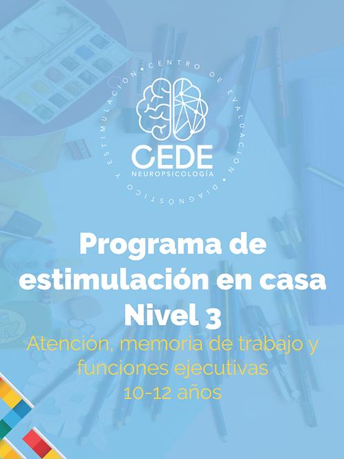 Programa de estimulación - Atención Nivel 3