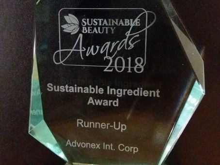 Entrada recognized at Sustainable Cosmetics Summit with Award