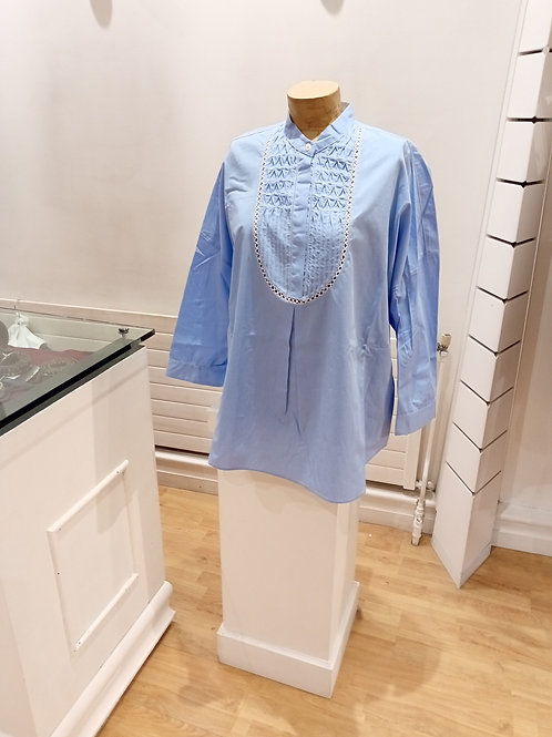 blouse bleu clair high