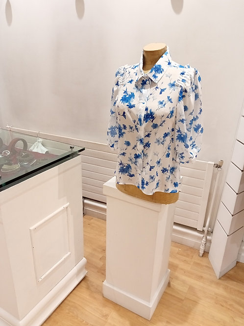 blouse fleurs