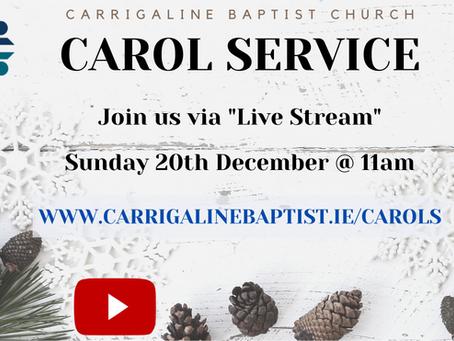 Carol Service - Sunday 20th December