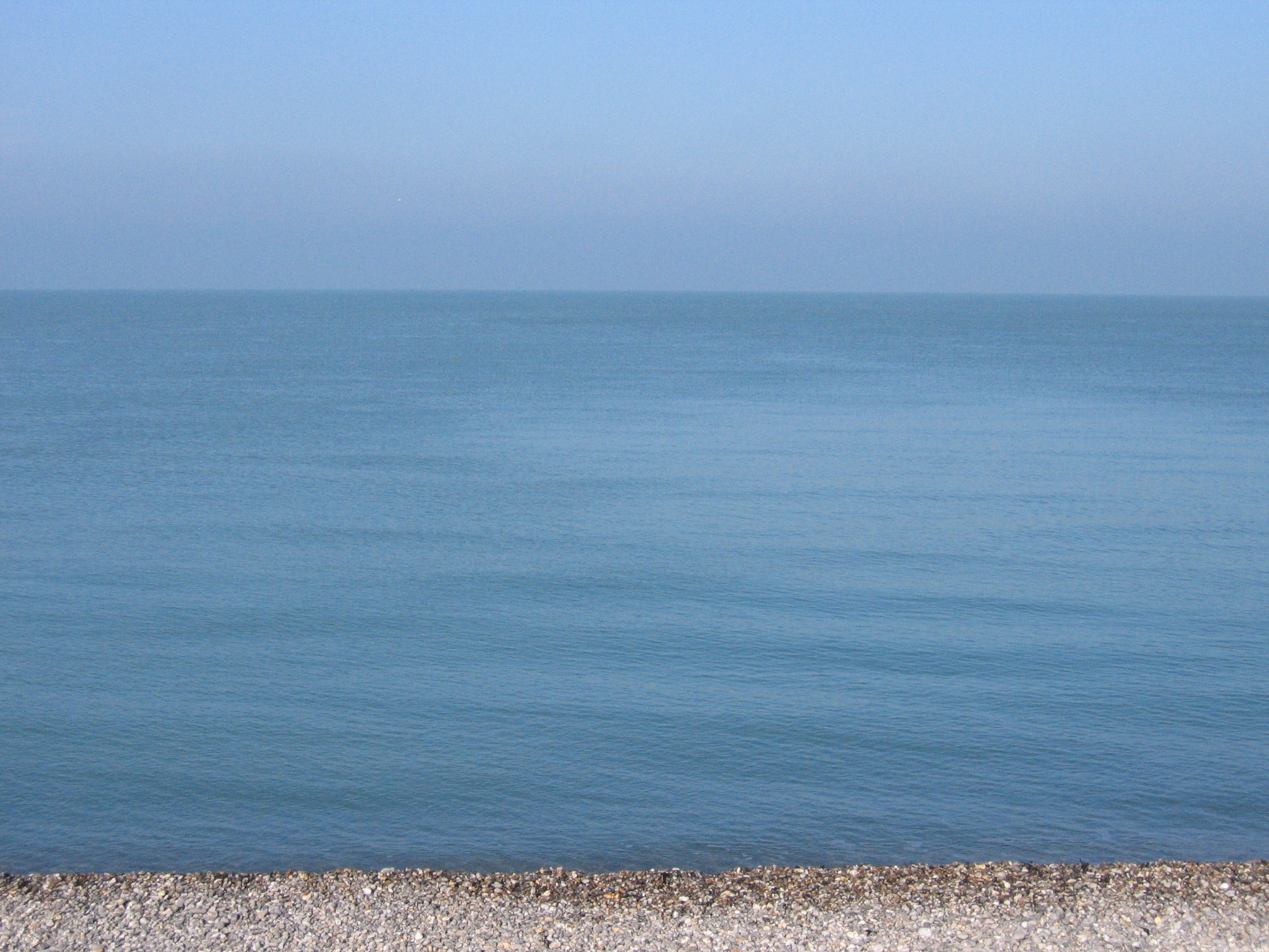 Calm sea morning in Normandy