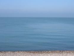 Calm sea morning in Normandy