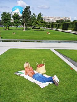 A Woman in the Parc Citroen