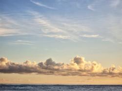 Joyous clouds on the Horizon