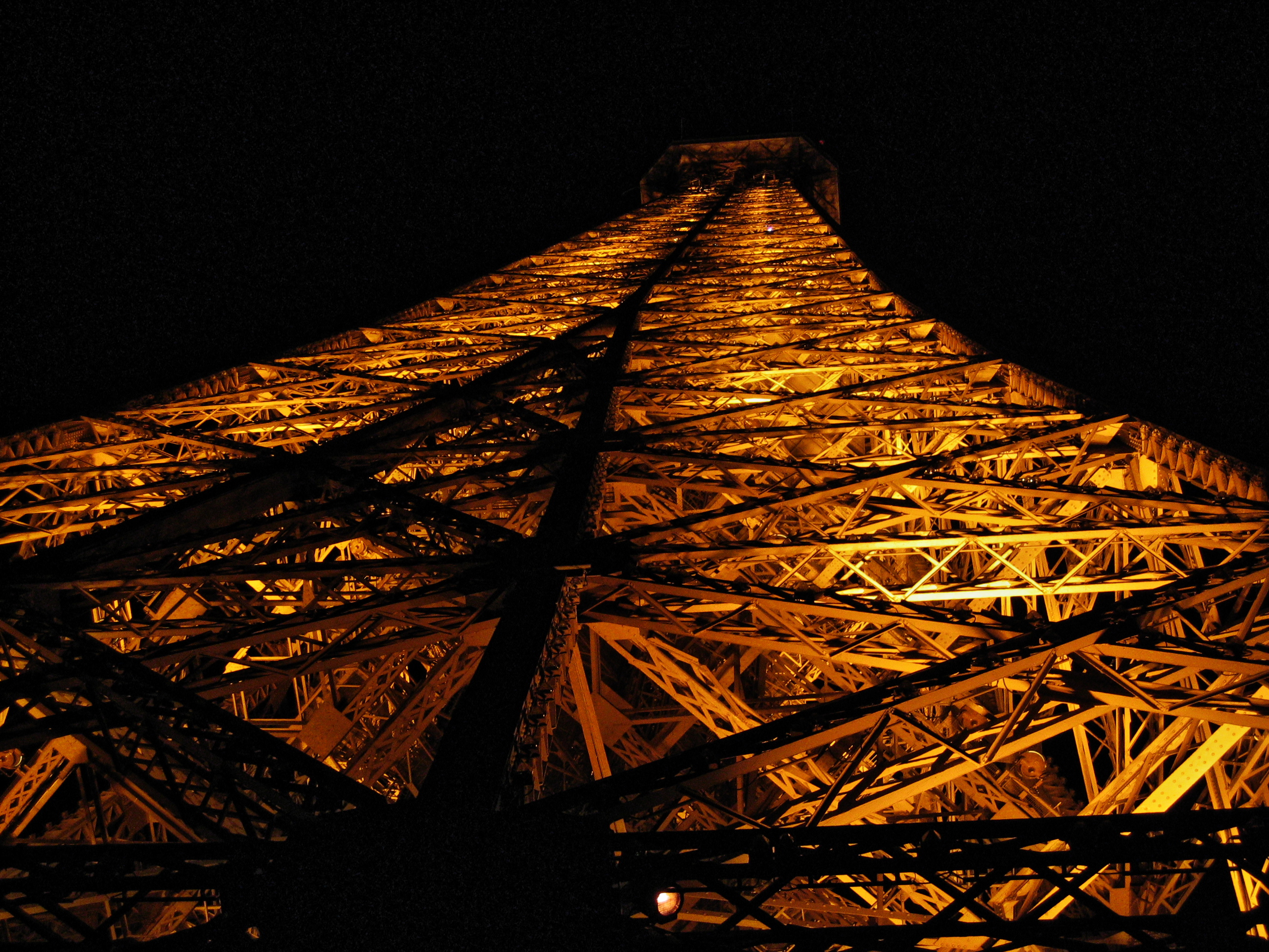 the Eiffel Tower all lit up