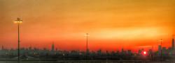 Sunrise over Manhattan from Newark