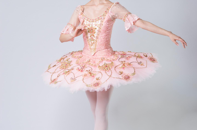 金平糖の精 ピンク 七分丈パフスリーブ