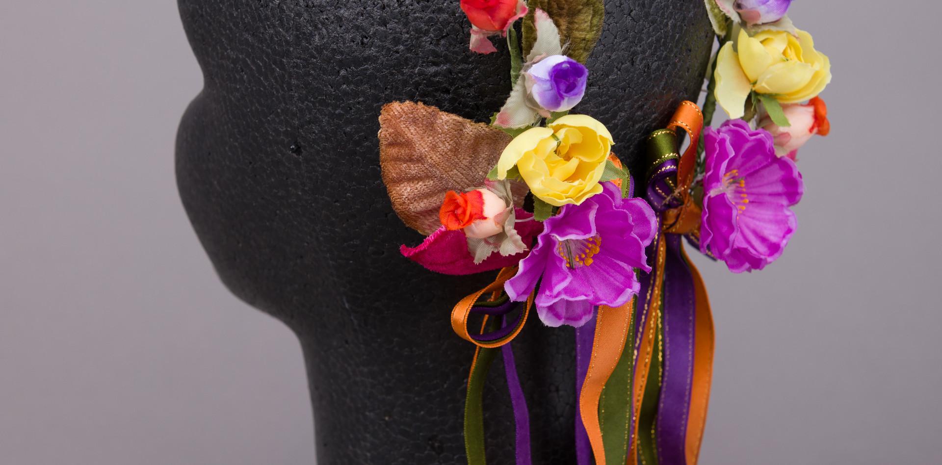 3色リボン付き花輪