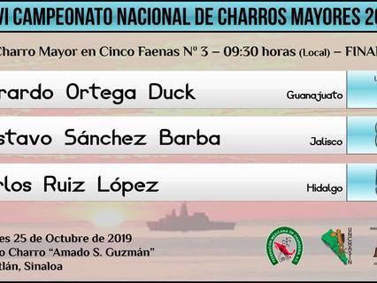 Charro Mayor en Cinco Faenas N. 3 - 09:30 hrs (Local) - FINAL
