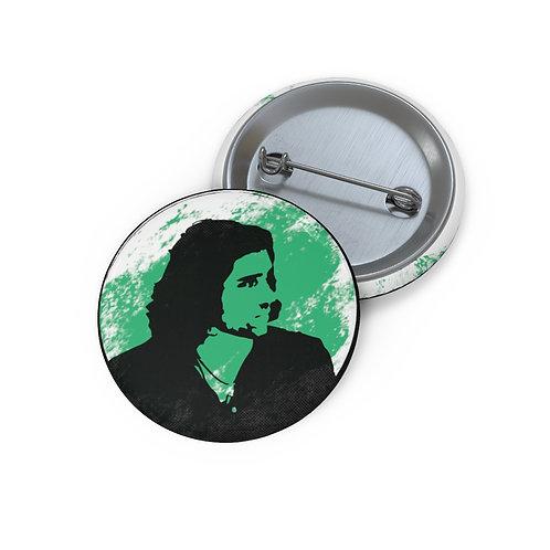 Green Black Custom Pin Buttons