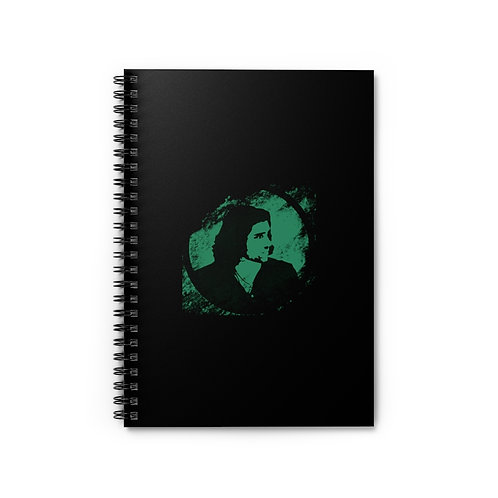 Black Green Logo Spiral Notebook - Ruled Line