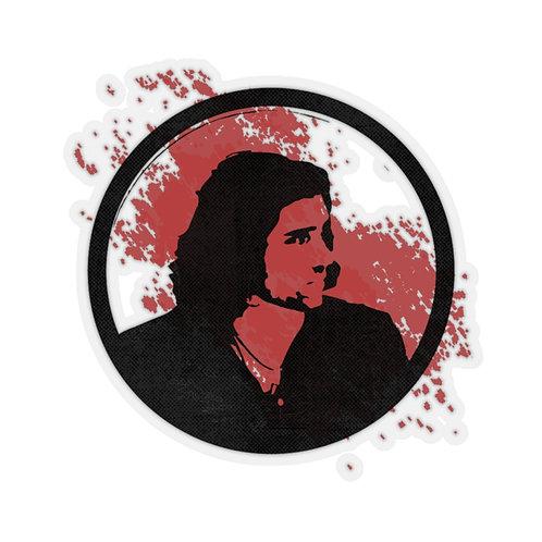 Red Black Kiss-Cut Stickers