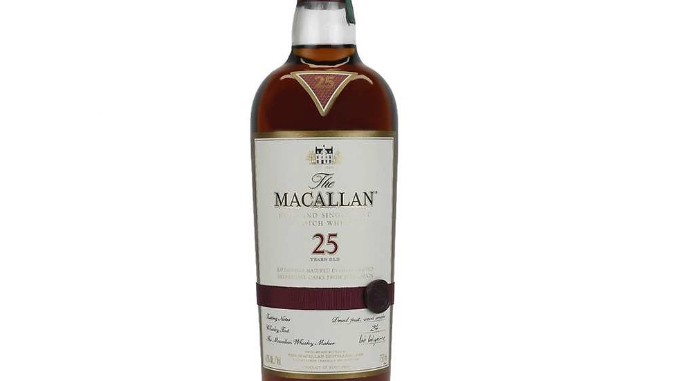 Macallan 25 Year Old Whisky 70cl
