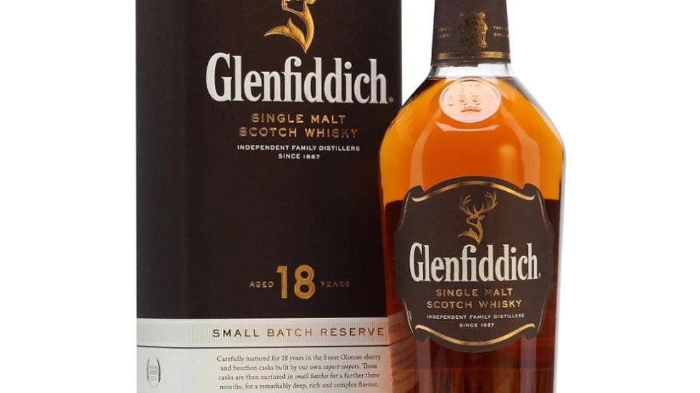 Glenfiddich 18 Year Old Single Malt Whisky 70cl