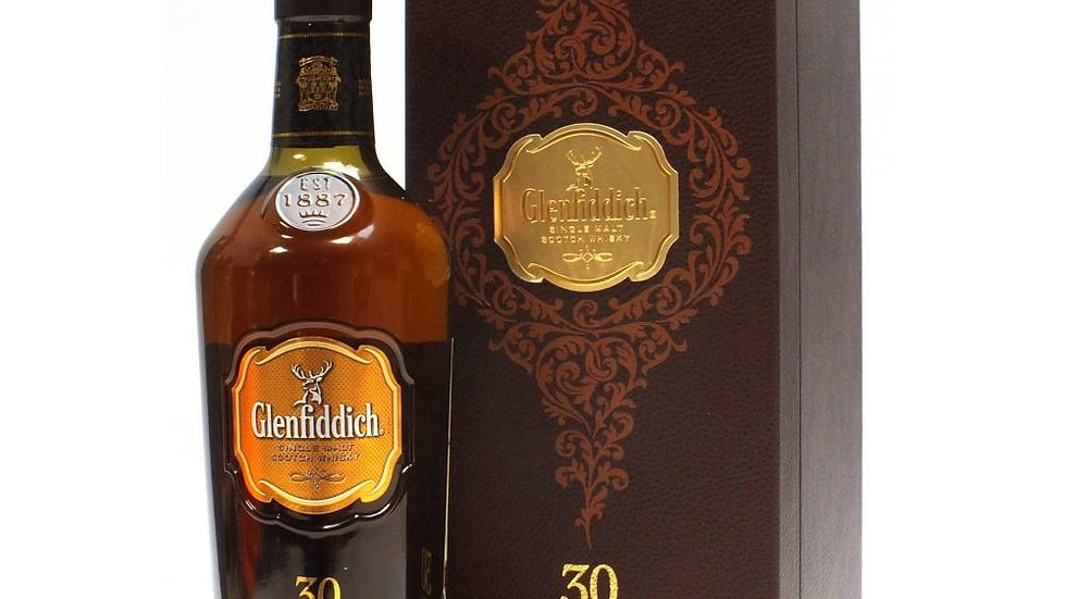 Glenfiddich 30 Year Old Single Malt Whisky 70cl
