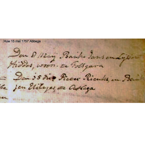 3019 Huwelijks Akte Pieter Rienks