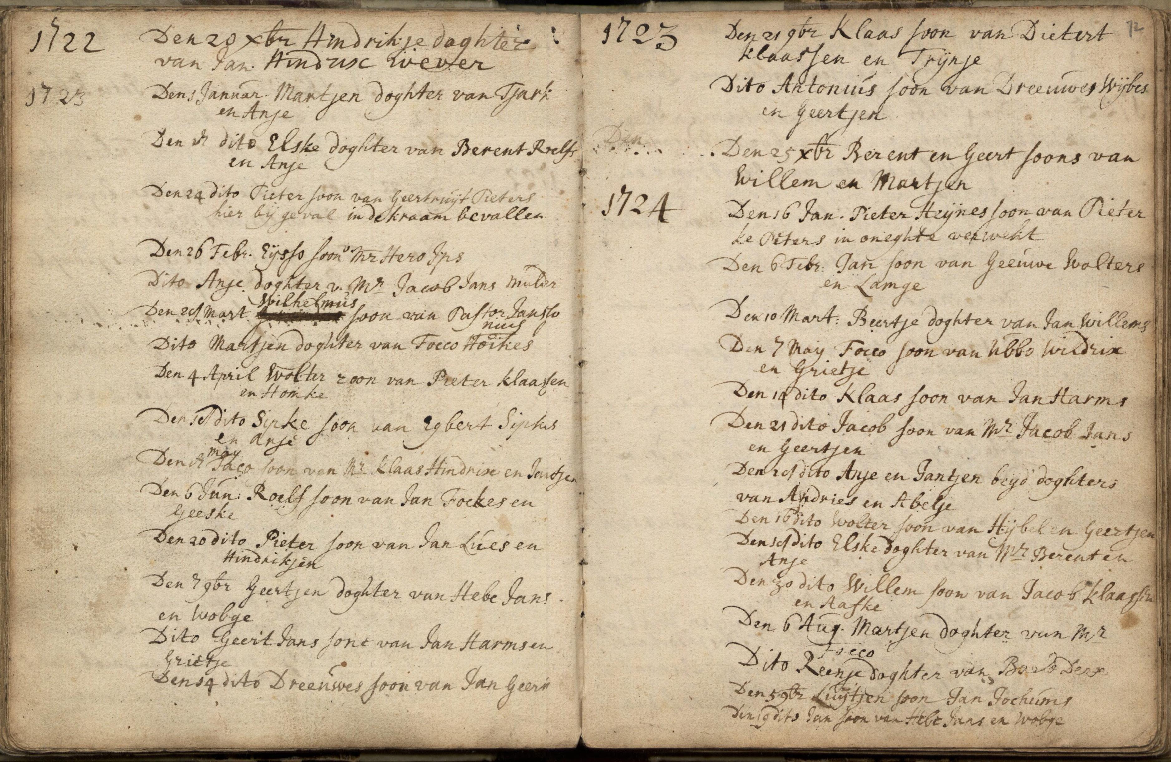 1501 Doopinschrijving Focco Ubbes 7 mei