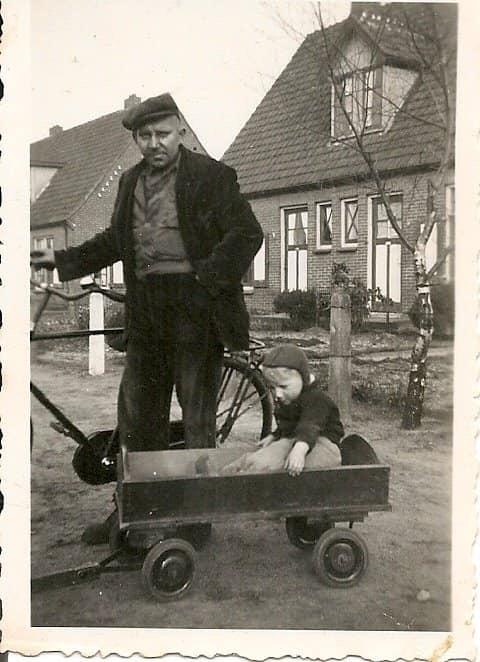 Pieter Wiersma met zoon Klaas Wiersma