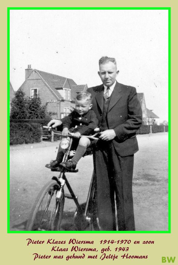 Pieter Wiersma met zoonn Klaas