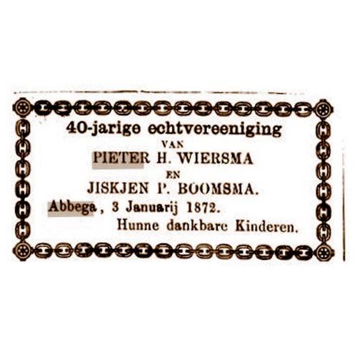 7505 40 Jarig huwelijk Pieter en Jiskje.