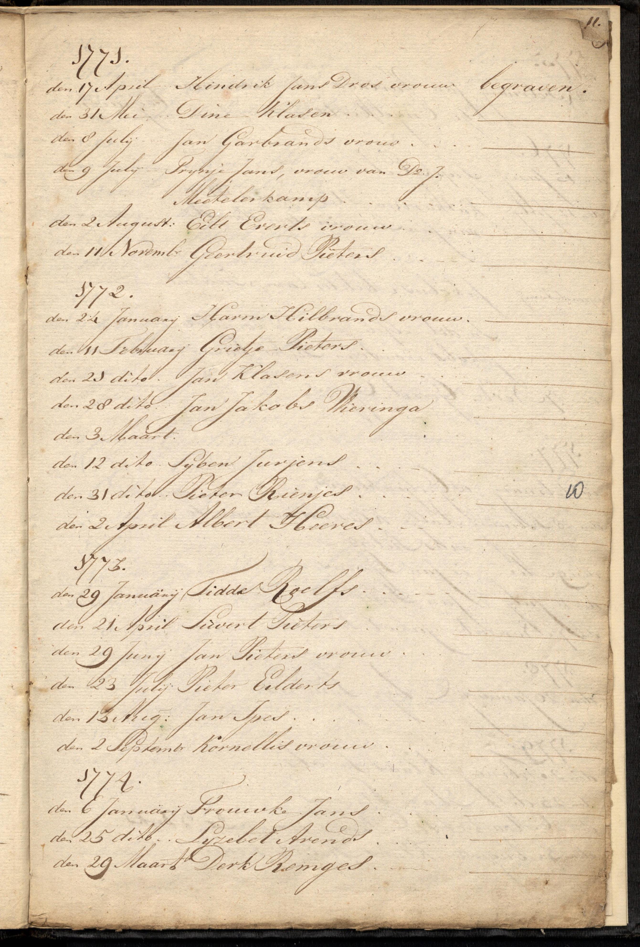 5002 Overlijdens akte Derk Remges 1774