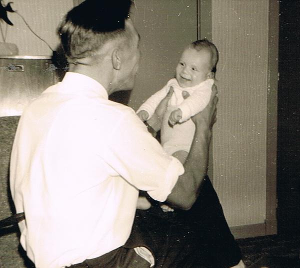 Onno Sander met oudste zoon Garmt