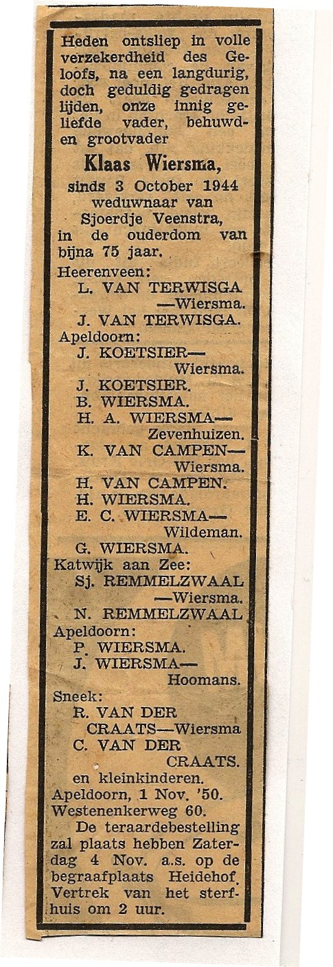 7527 Advertentie in Apeldoornse Courant.