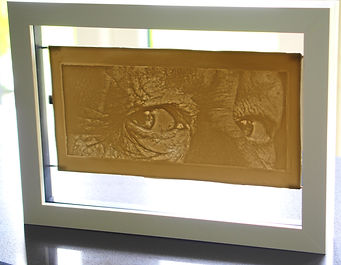 Porcelain lithophane  of eyes