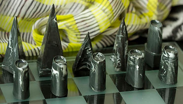 Ceramic chess pieces