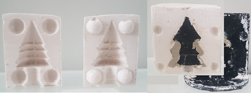 Plaster moulds for slipcasting, made using 3D printing