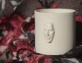 Tea Light with shakespeare's face