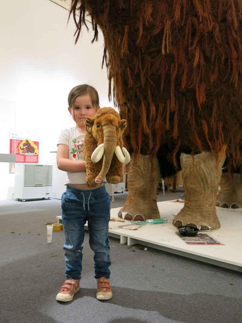'Fluffy' the mammoth in the museum exhibition