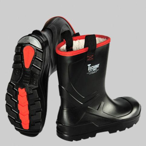 Techno Boots Troya Kısa Siyah